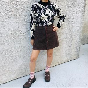Vintage 80s 90s The Cosby Show Floral Sweater